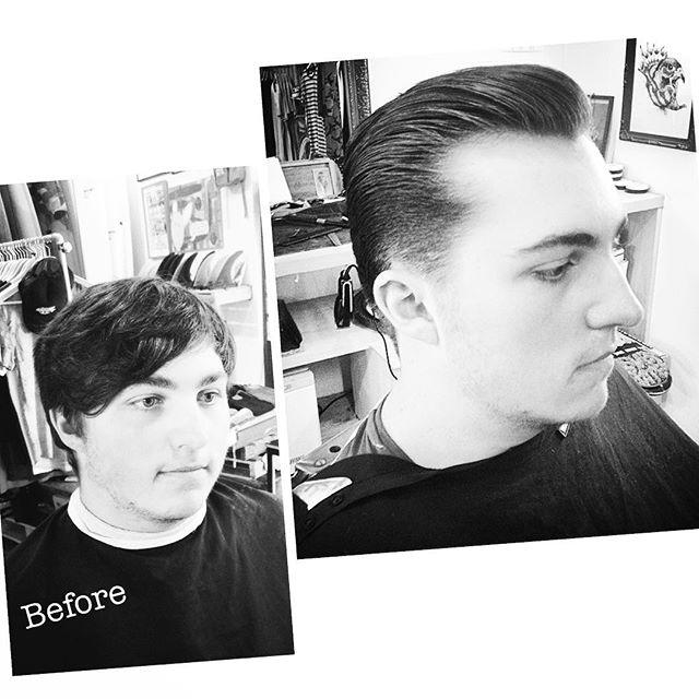 One from the old shop#captainsipsops #regular #transformation #lifechanger #neverthesameagain #haircut #barber #barbershop #menshaircut #pompadour #scissorovercomb #oldschool